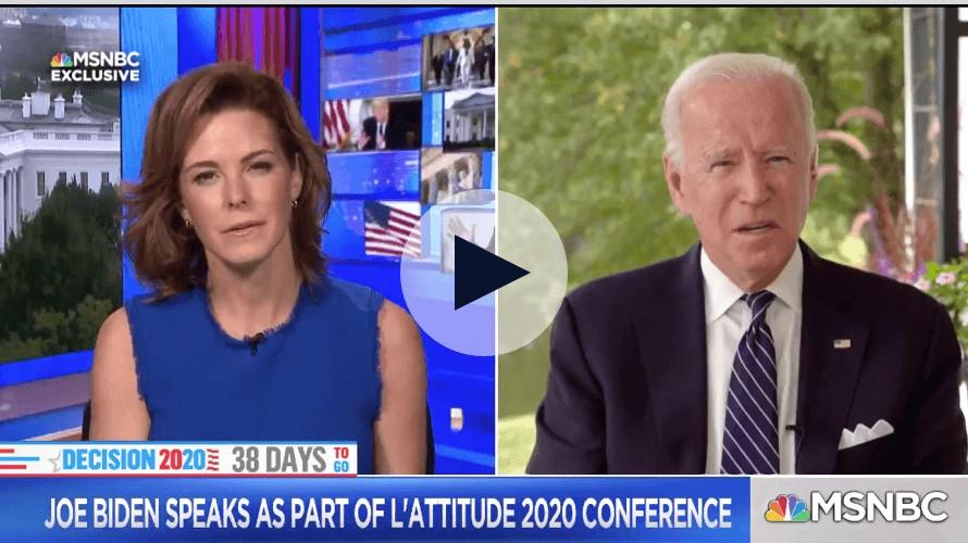 Joe Biden addresses Latino voters at L'ATTITUDE 2020