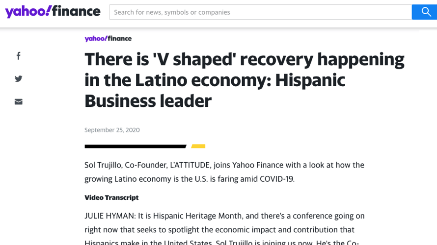 Sol Trujillo Discusses Latino Economic Considerations Ahead of the US Presidential Election