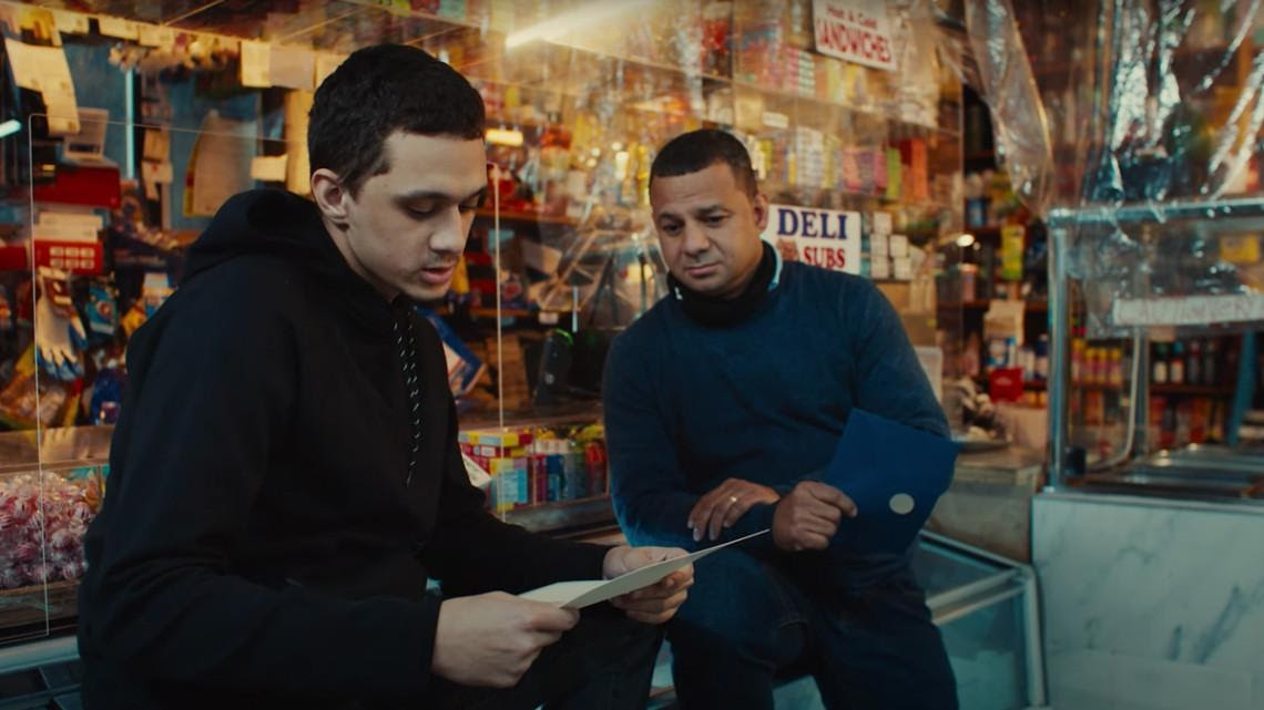 Bodega owner Juan Valeria listens as his friend/translator reads the exciting note from Pepsi